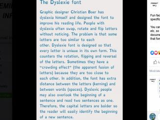 The Dyslexie font