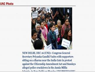Priyanka Gandhi protest, Did she supports Pakistan over the issue of CAA and NRC