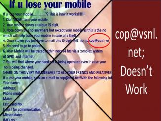 Can we get a lost mobile cop@vsnl.net