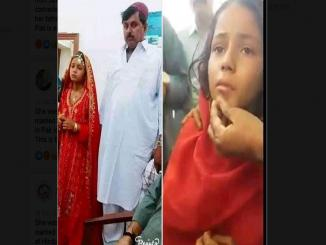 This 9 year old is from Sindh, Pakistan, converted to Islam, married
