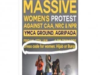 Dress Code for anti CAA protest needs Hijab Or Burqa