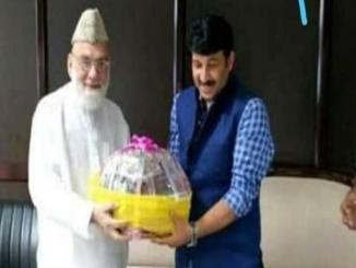 Old image of BJP MP Manoj Tiwari with Imam Bukhari shared ahead of Delhi elections
