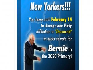 New York Party Affiliation vote deadline is February 14 2020