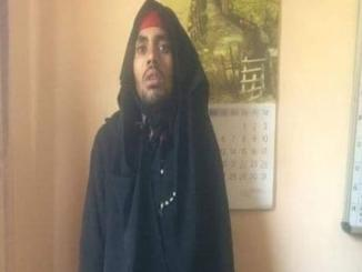 Image of militant, viral Burqa Clad man caught at Shaheen Bagh