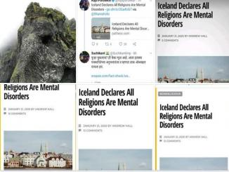 Did Iceland Declare All Religions Are Mental Disorders