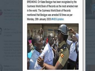 Was Kizza Besigye awarded Guinness World Record