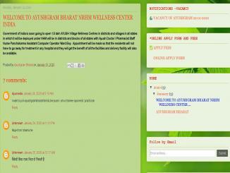 Blogspot AYUSHGRAM BHARAT is fraudulent says Ministry of AYUSH