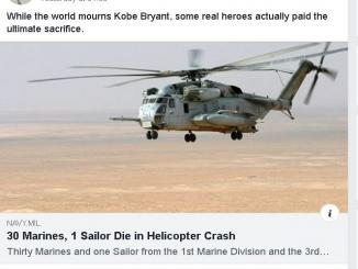 Did 30 Marines, 1 Sailor Die in Helicopter Crash on 26 Jan 2020, 2005