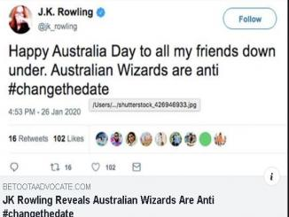 J.K Rowling said, Australian Wizards are anti #changethedate is not true