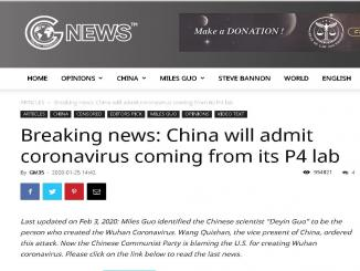 Is Coronavirus a Lab bio weapon in China by scientist Deyin Guo