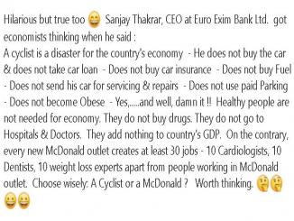 Sanjay Thakrar, CEO, Euro Exim Bank Ltd cycling bad for economy