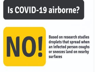 Ebola is lousy, Corona is airborne, is COVId 19 airborne