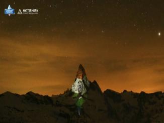 Was INDIAN TRICOLOR shown on MATTERHORN MOUNTAIN Switzerland