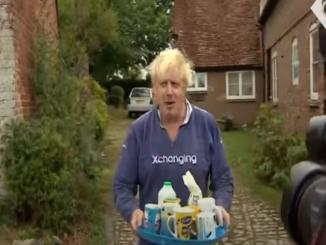 Boris Johnson offers reporters tea