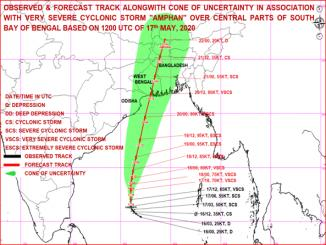 Tracking Severe Cyclonic Storm AMPHAN, at 2030 Hrs IST