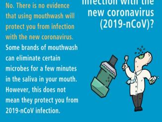 Can gargling mouthwash protect you from infection with the 2019-nCoV?