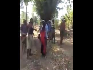Minor tribal girl brutally thrashed in fathers presence; video goes viral