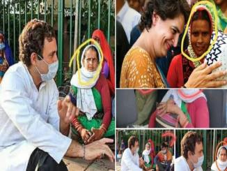 Rahul Gandhi meeting with migrants, Priyanka Gandhi picture 2019 viral