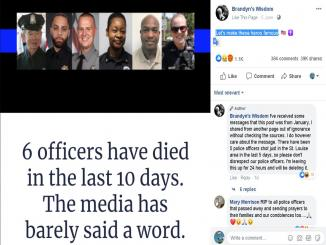Did six officers died in 19 days, US protest after George Floyd death