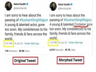 After Sushant death, Rahul Gandhi cricketer pappu fake tweet viral