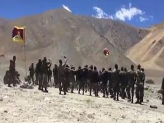 Did Indian Soldiers enter 4 km inside the Chinese territory, Tibetan Army dance