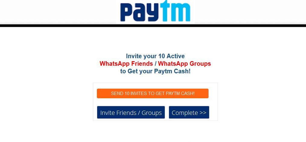 Free Paytm Cash! (Rs 300)
